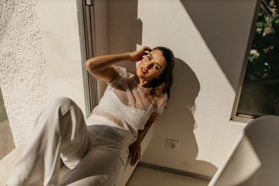 Pantalon Charm et boléro Paloma 4. Yann Audic. Collection 2021
